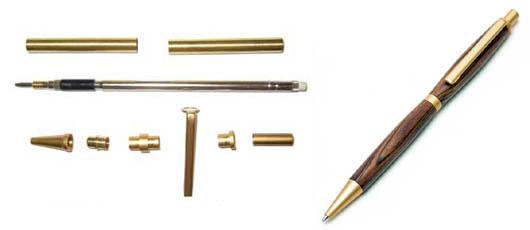 """Mécanisme de stylos porte mines 7mm"""" Marie"""" Doré Vente outillage bois FTFI # Mécanisme Stylo Bois"""