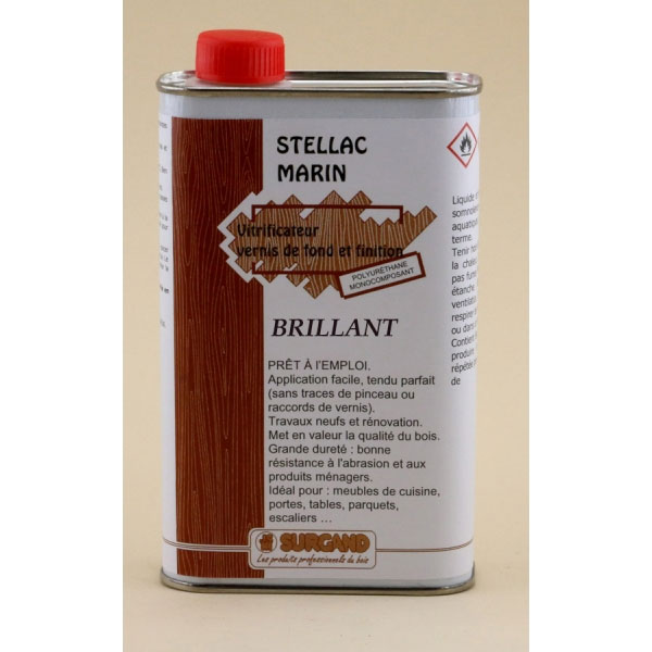 Vernis polyur thane stellac marin brillant 1 litre vente outillage bois ftfi - Vernis polyurethane bois ...