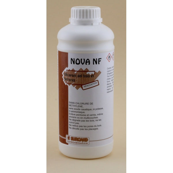 D capant incolore pour bois et ferrures nova gel nf 1 - Decapant vernis bois ...